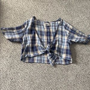 Plaid urban outfitters crop top
